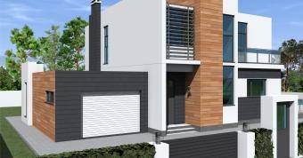 Проект двухэтажного дома в современном стиле